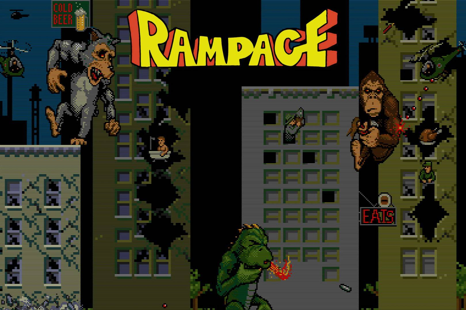 The Rock Bringing Arcade Game Rampage To Movie Screens Wired Uk