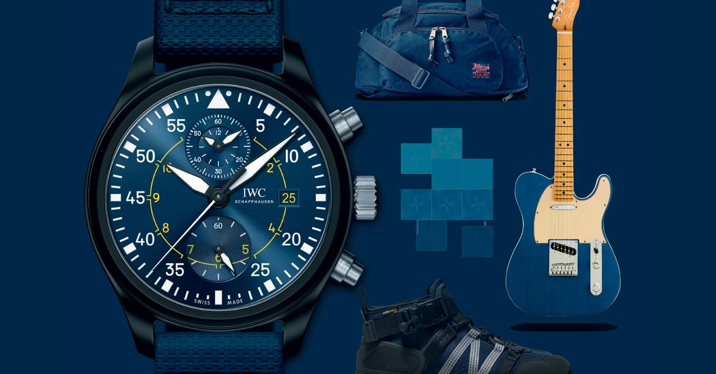 From watches to bags, this stylish gear will stop you feeling blue