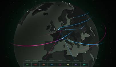 This Beautiful Terrifying Map Charts Cyberattacks In Real Time