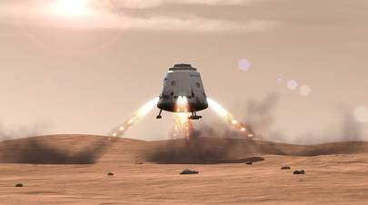 SpaceX Dragon landing Mars