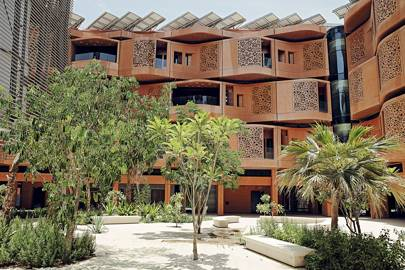 Masdar's residential blocks, which are currently home to just 102 people, mainly students