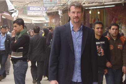 Simudyne founder Justin Lyon at a market in Northern Iraq