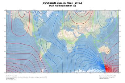 World Magnetic Model 2019