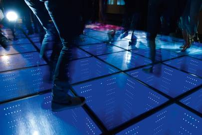 The energy-producing dance floor at Rotterdam's Club WATT, described as the world's first sustainable nightclub