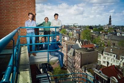 The Treatwell team in Amsterdam: (l-r) Maarten Engelen, Laurens Groenendijk, Martijn Rozendaal, Jan-Willem van Boeckel, Erik Wienk