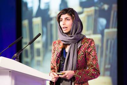 Roya Mahboob addresses the audience at WIRED2016