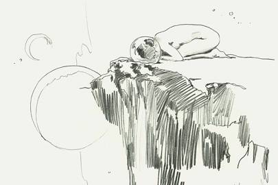 A rough early sketch from Jacob Escobedo