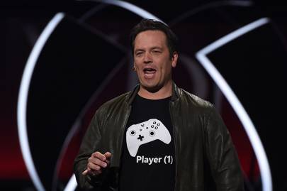 Xbox chief Phil Spencer announcing the Xbox One X at E3 2017