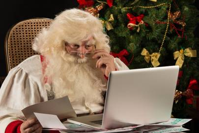 Stop sending weird emails Santa, you old fool