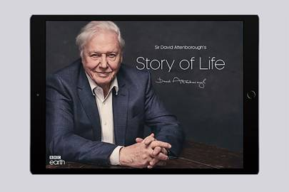 The Story of Life app contains over 1,000 clips of Sir David Attenborough's work