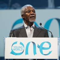 Kofi Annan at the One Young World conference in Ottawa, Canada