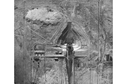 The Baikonur Cosmodrome as it appeared to American U-2 reconnaissance planes during the Cold War