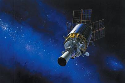 Artist conception of the Defense Support Program satellite