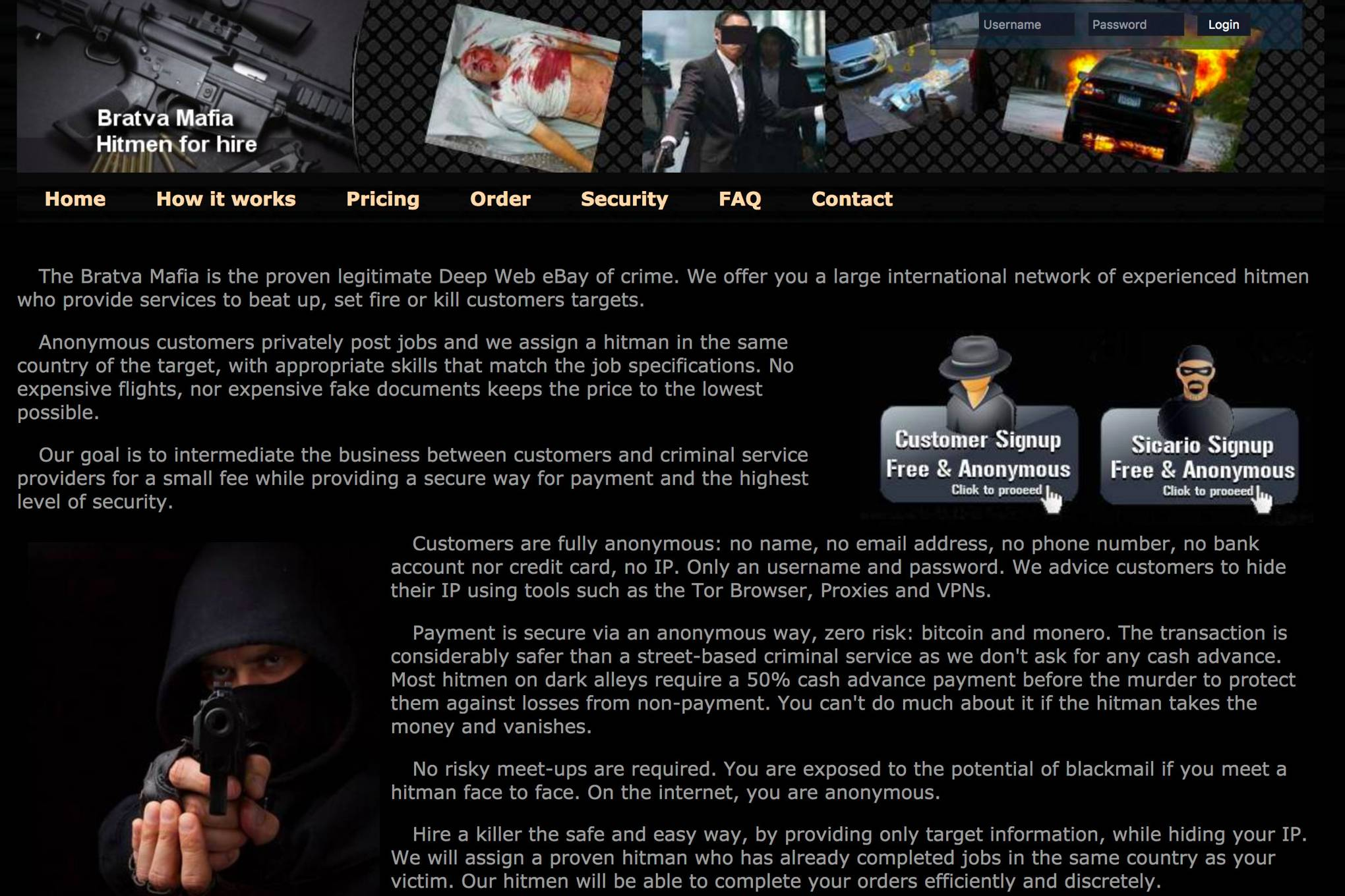 The unbelievable tale of a fake hitman, a kill list, a darknet