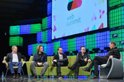 U2 frontman Bono on stage at Web Summit 2014