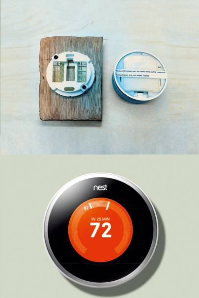 The Nest Learning Thermostat (with an early prototype pictured above) creates a schedule for your home, based on your living habits