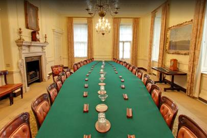 10 Downing Street Cabinet meeting room