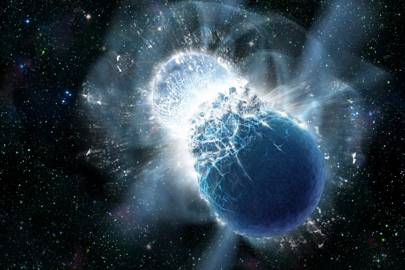 Colliding neutron stars' kilonova explosion observed by Hubble