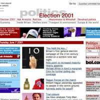 The Guardian website, 2001