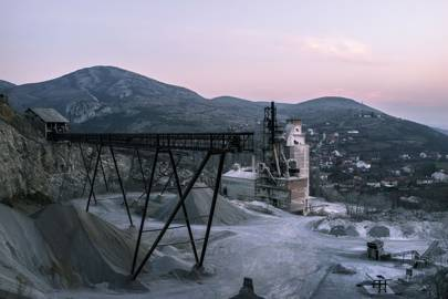 A brick factory on the outskirts of Veles, Macedonia