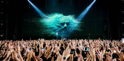 A hologram of Eric Prydz's face closed his EPIC 5.0 show in London