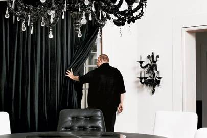 Kim inside his New Zealand mansion