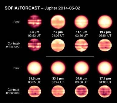 Infrared images reveal how Jupiter's atmosphere has changed over time