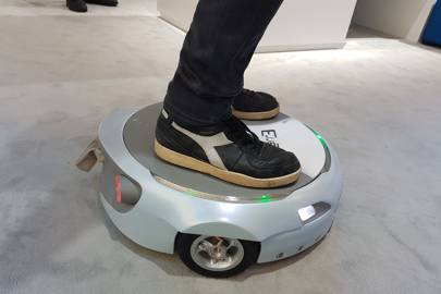 The Car-E hoverboard concept can follow its owner around and carry shopping or luggage
