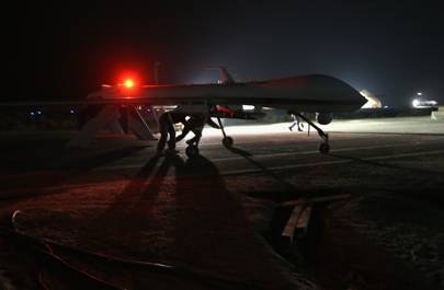 US military drone: MQ-1B Predator unmanned aerial vehicle (UAV)