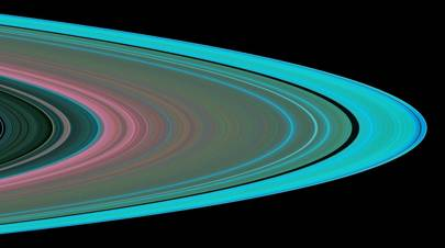 Cassini conducted the first radio occultation observation of Saturn's rings on May 3, 2005