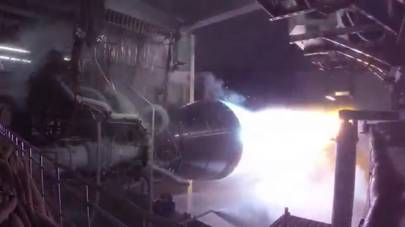 Blue Origin BE-4 orbital engine test