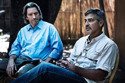 George Clooney with Enough Project's John Prendergast in Juba, the capital of South Sudan, in 2011