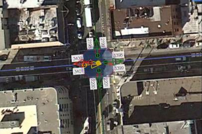 Invisible to ordinary users, information about turn restrictions are built into Google maps