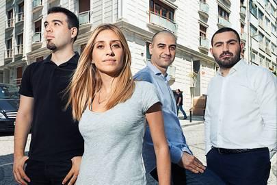 Hemen Kiralik cofounders (left-right) Alper Kaya, Rina Onur, Remi Onur, Mehmet Ulku