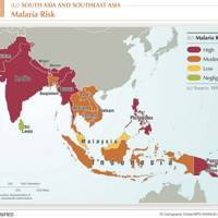2013 South Asia malaria map
