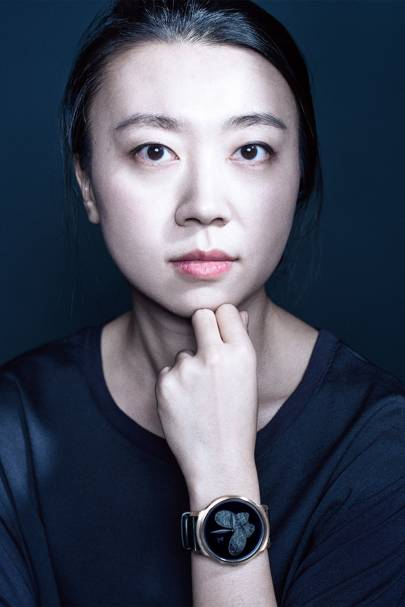 Yuanyuan Li, wearing her Ticwatch, is on a mission to reinvent voice search for wearable devices