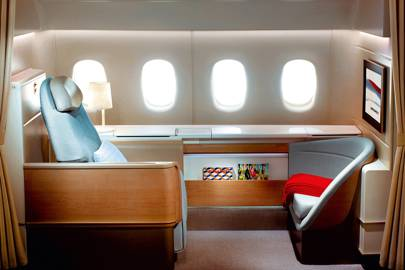 Air France's new first-class beds