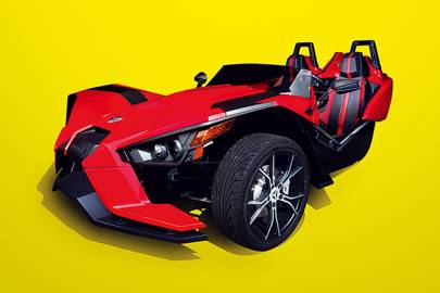 The Slingshot can go from 0-100kph in 5.8 seconds