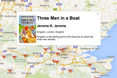 Google London Map.Literature From Across The Globe Plotted Using Google Maps Wired Uk