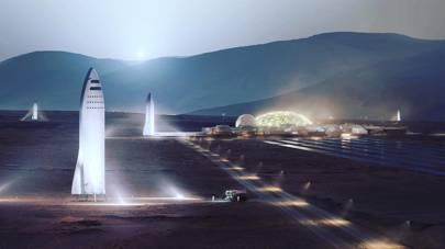 SpaceX Mars City concept art