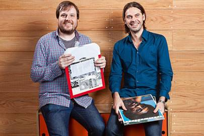 Brian Whitman and Tristan Jehan, cofounders of the Echo Nest