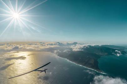 Solar Impulse flies over Hawaii, 408 days into its solar-powered circumnavigation of the globe