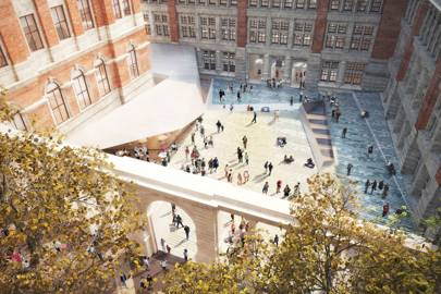 AL_A's Sackler courtyard at the Victoria and Albert Museum is due to open in 2017