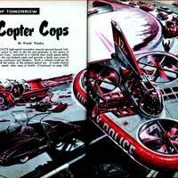 Copter Cops -- Mechanix Illustrated, 1958