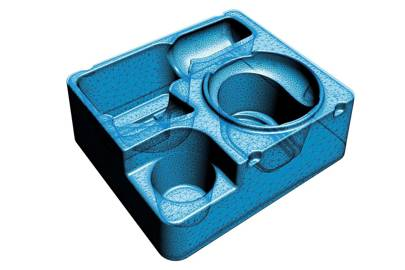 The Go!SCAN 3D was used to create this model of a thermoforming die for plastic packaging