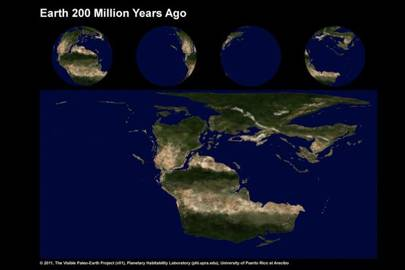 Earth 200 Million Years Ago