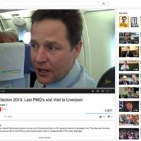 Nick Clegg on the campaign tail, 2010