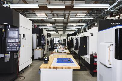 Around 50 people work at Microsoft's Advanced Prototyping Center, a 20,000-square-metre hall packed with laser cutters, water-jet machines, wire cutters and a 3D-printing lab that processes up to 300 jobs a day