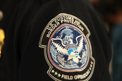 A patch on the sleeve of a U.S. Customs and Border Protection officer