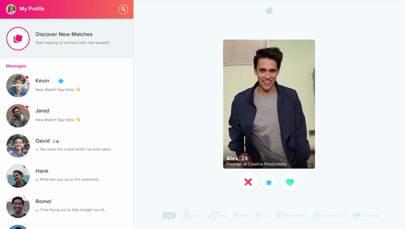 Online dating swipe